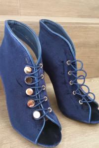 Niebieskie botki