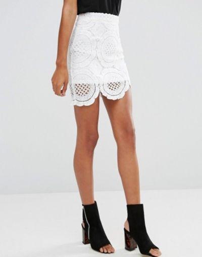 Spódnice Glamorous krótka spódnica gipiura roz 40