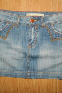 R Marks jeansowa mini spódniczka hafty roz 36...