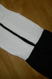 VILA czarno biała sukienka roz XS...