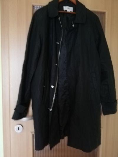Odzież wierzchnia czrny płaszczyk parka