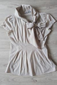 Cocomore 40 L bluzka damska elegancka wizytowa wiązanie kokarda...