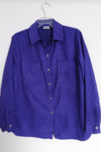 Chicos koszula damska fioletowa 38 M brzoskwiniowa skórka z USA