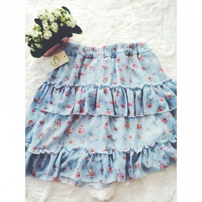 Spódnice Spódnica falbanka hiT Lato blue
