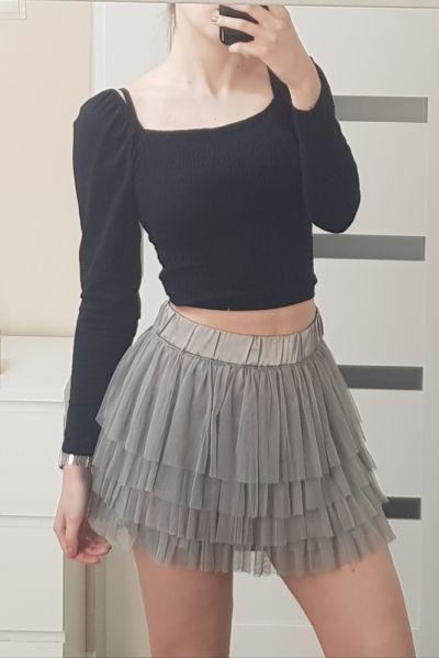 Spódnice Tiulowa szara spódnica