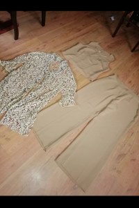Komplet spodnie marynarka shirt 48 złoty komunia święta...