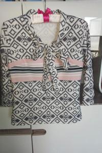 Elegancka bluzka w Azteckie wzory XS S 34 36...