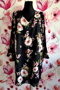wallis sukienka mgiełka kwiaty ptaki jak nowa hit blog 44...
