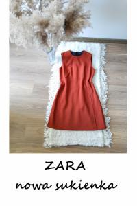 Nowa sukienka Zara S M basic minimalizm trapezowa...