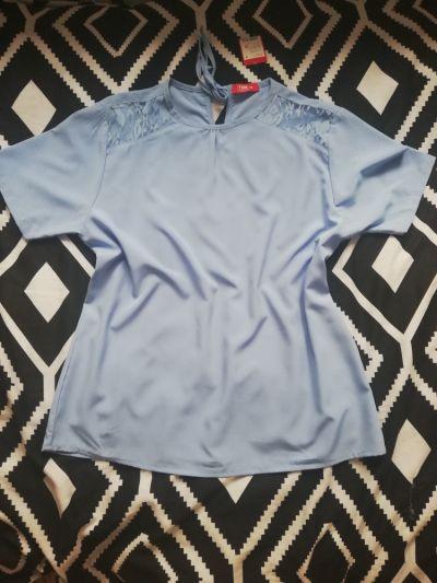 Bluzki Bluzka błękitna letnia