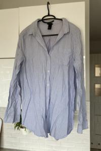 HM błękitna koszula prążki paski oversize bawełna rozmiar 40...