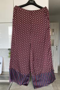 Kappahl nowe szerokie spodnie wzory print hippie retro satynowe...