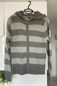 Brave Soul sweter paski szary