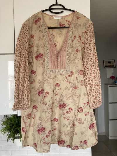 Bluzki Promod kwiatowa tunika bluzka floral rozmiar 42