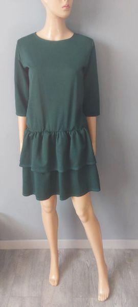 Suknie i sukienki Sukienka Zielona Rozkloszowana 38 M