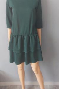 Sukienka Zielona Rozkloszowana 38 M