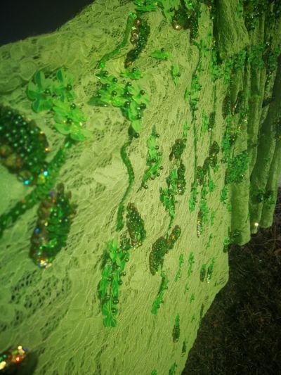 Suknie i sukienki Zielona rozkloszowana
