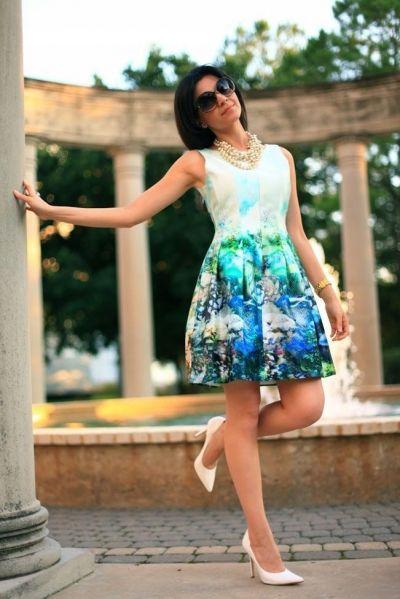 Suknie i sukienki ZARA WOMAN SUKIENKA TULIPAN RYBY S