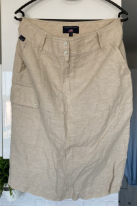 US Polo assn spódnica beżowa lniana rozmiar 38...