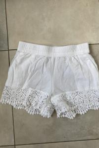 HM bawełniane białe szorty spodenki z koronką letnie rozmiar 34...