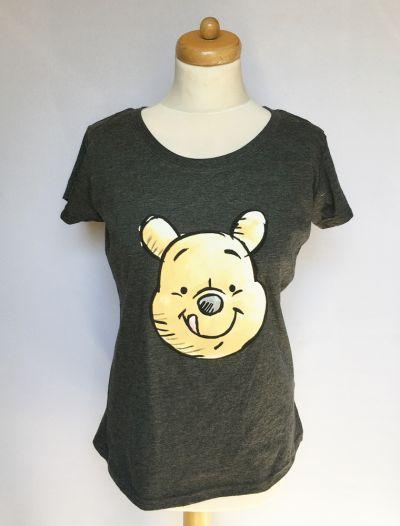 Bluzki Bluzka Koszulka NOWA Disney Kubuś Puchatek M 38 Szara