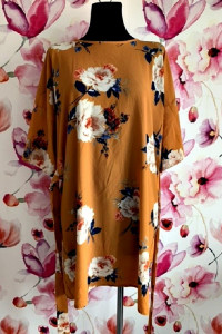 select sukienka luźny fason modny wzór kwiaty hit 44...