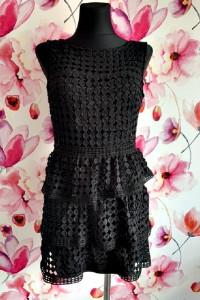 boohoo sukienka mini elegancka gipiura hit blog 36...