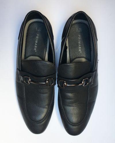Obuwie Mokasyny Męskie Czarne Primark 42 285 cm Eleganckie