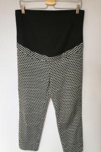 Spodnie Ciążowe H&M Mama Wzory XL 42 Eleganckie...