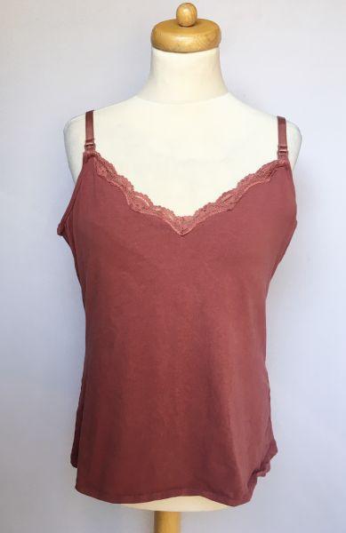 Bluzki Bluzka Koszulka Bordowa KappAhl XL 42 Bordowa Do Karmienia