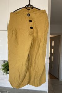 Zara Woman musztardowe spodnie culotte luźne rozmiar XL