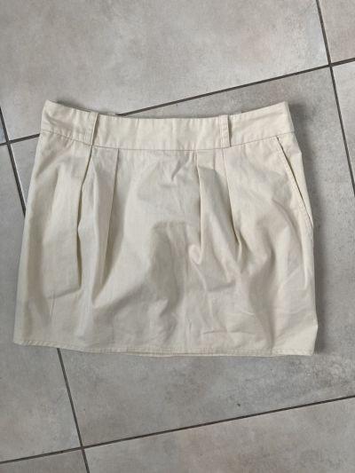 Spódnice Topshop kremowa spódniczka bawełniana mini