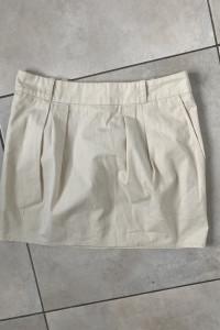 Topshop kremowa spódniczka bawełniana mini