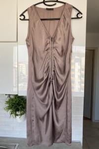 Vero Moda satynowa pudrowa sukienka zamek rozmiar 34