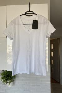 Armani Exchange nowa koszulka biała tshirt minimalizm
