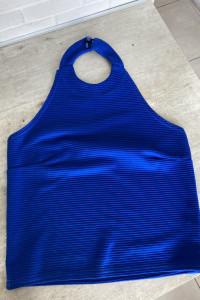 Missguided kobaltowy crop top rozmiar 38