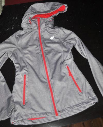 Odzież wierzchnia 4F kurtka jasno szary melanż wiosenna XS