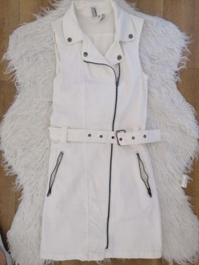 Suknie i sukienki Biała dżinsowa