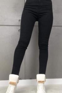 Nowe klasyczne czarne spodnie rurki damskie...