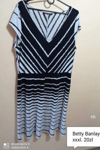 Sukienka xxxl krótki rękaw lato paski...