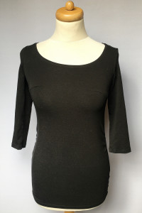 Bluzka Koszulka Ciążowa H&M Mama Czarna XS 34...