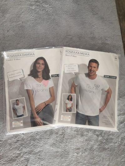 Komplety Komplet koszulek dla pary rozmiar S M Tom&Rose