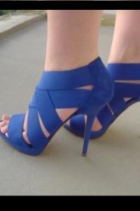 Zara kobaltowe niebieskie piękne sandały szpilki 36