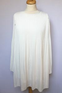 Sukienka Biała M 38 Plisowana Plisa Biel Bik Bok Rozkloszowana...