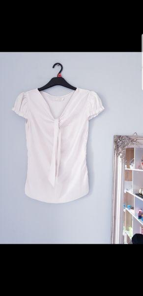Koszule Biała satynowa koszula