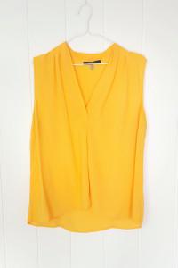 Żółta bluzka Reserved 42 XL top wiskoza na lato soczysta zwiewna koszulka