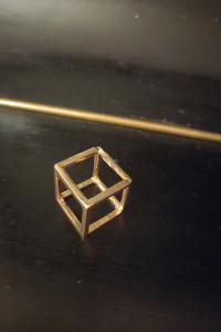 pierścionek geometryczny