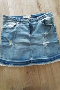 jeansowa spódnica L