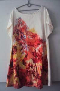 sukienka z kolorowym przodem