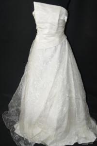 3 Kremowa suknia slubna M